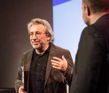 Photo of Can Dündar in Leipzig