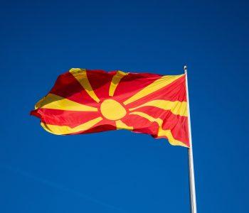 North Macedonian flag