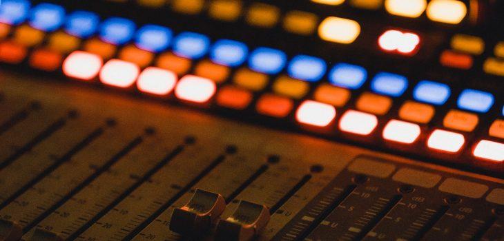 Image of radio production studio