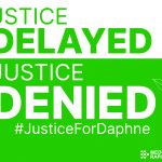 Justice Delayed is Justice Denied card - GREEN