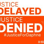 Justice Delayed is Justice Denied card - ORANGE