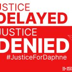 Justice Delayed is Justice Denied card - RED