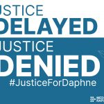 Justice Delayed is Justice Denied card - TEAL
