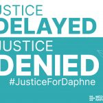 Justice Delayed is Justice Denied card - TURQUOISE