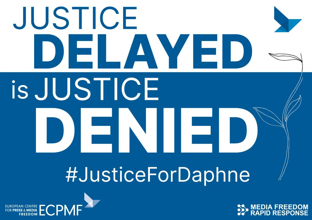 Justice Delayed is Justice Denied card - ECPMF