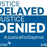 Justice Delayed is Justice Denied card - ECPMF