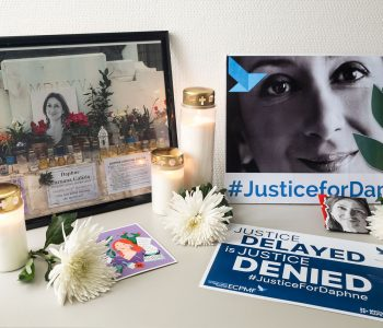 Virtual vigil for Daphne Caruana Galizia