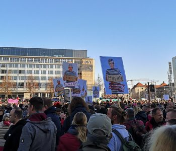 Querdenken protest in Leipzig