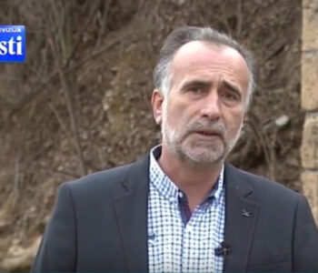 Montenegrin journalist Sead Sadiković. Screenshot from TV Vijesti.