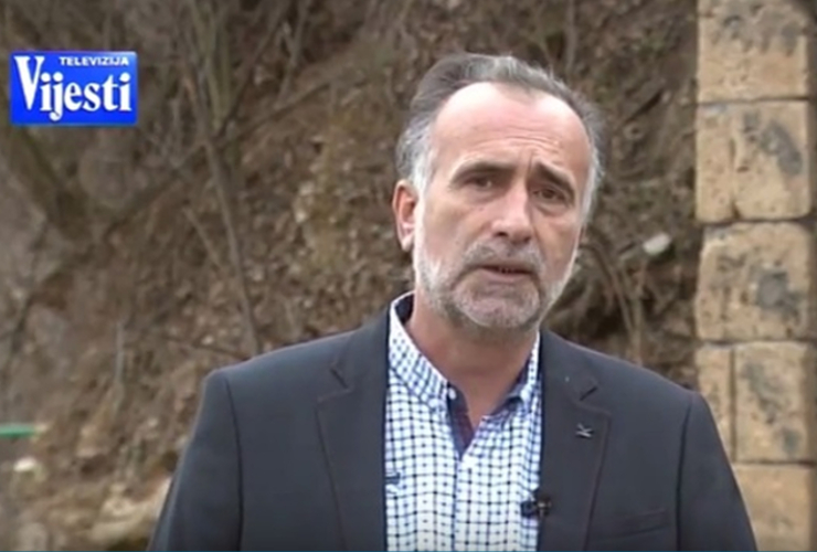 Montenegrin journalist Sead Sadiković. Screenshot from TV Vijesti.
