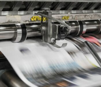 Photo of newspaper press