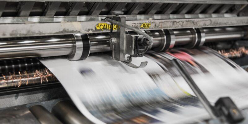 Photo of newspaper press